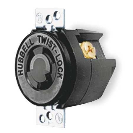 15A Locking Receptacle 2P 3W 250VAC L6-15R BK