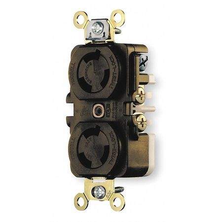 15A Duplex Locking Receptacle 2P 3W 125VAC L5-15R BN