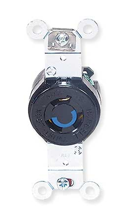 15A Locking Receptacle 2P 3W 250VAC L6-15R BK