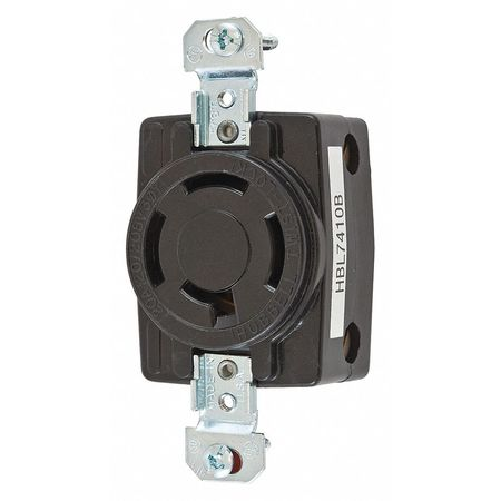 20A Locking Receptacle 4P 4W 120/208VAC BK