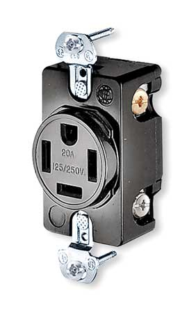 20A 4W Single Receptacle 250VAC 14-20R BK