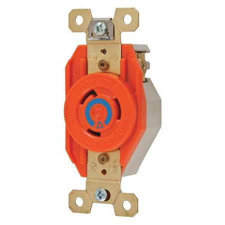 20A Isolated Ground Locking Receptacle 2P 3W 240VAC
