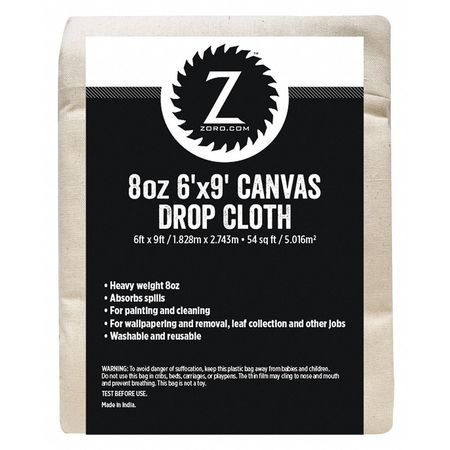 Canvas 6ft. x 9ft., 8 oz.