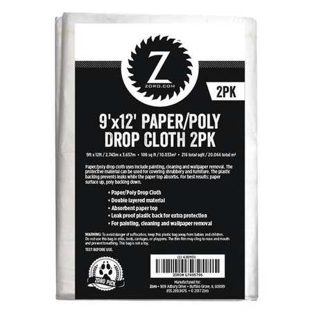 Paper/Poly Dropcloth 9ft.x12ft.