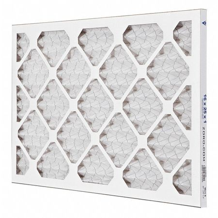 "Pleated Air Filter,  16""x25""x1"",  MERV 8"