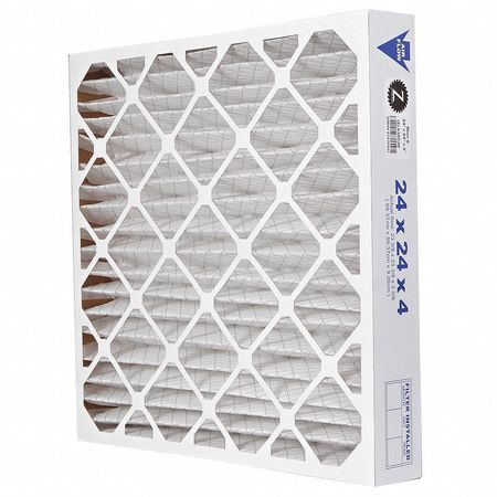 "Pleated Air Filter,  24""x24""x4"",  MERV 8"