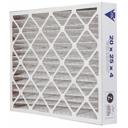 "Pleated Air Filter,  20""x25""x4"",  MERV 8"
