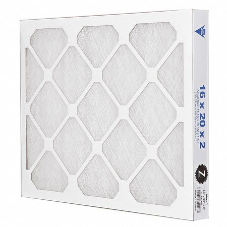"Premium Poly/Glass Air Filter,  16x20x2"",  MERV 7"