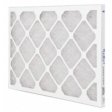 "Premium Poly/Glass Filter,  16""x25""x1"",  MERV 7"