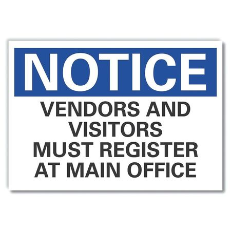 Vendors and visitors notice decal