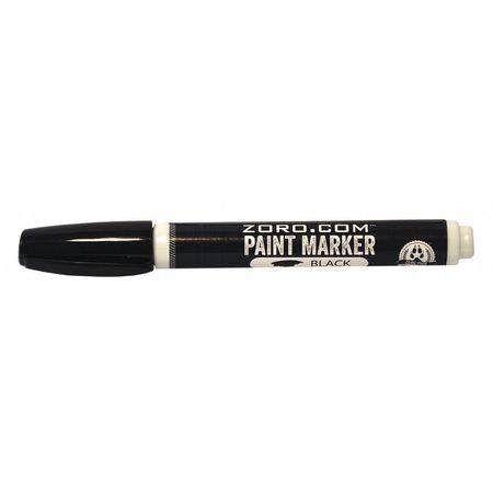 Permanent Paint Marker,  Pump Action,  Bullet Tip,  Black