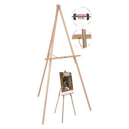 mastervision display easel 3 leg 64 wood flx06203mv zoro com