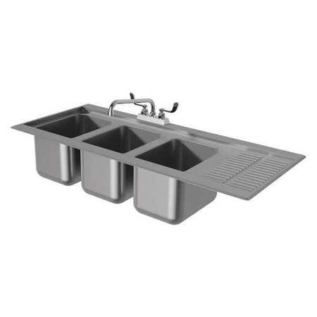 Sink, Drop In Counter, W/Drainboard