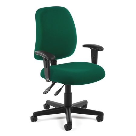 Posture Task Chair With Arms Green  sc 1 st  Zoro Tools & Ofm Inc Posture Task Chair With Arms Green 118-2-AA-807 | Zoro.com