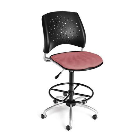 Star Swivel Chair, Coral Pink