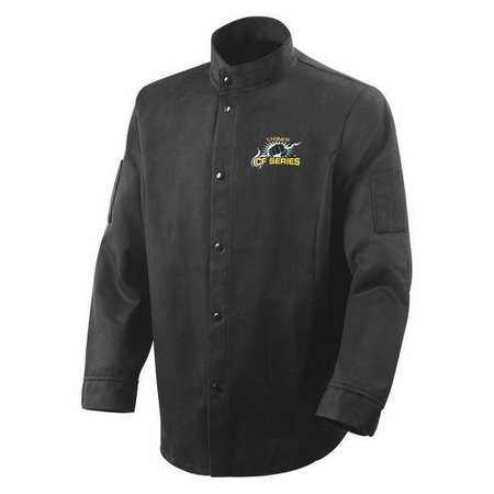 Welding Jacket,  Black,  Carbonized Fiber,  2XL