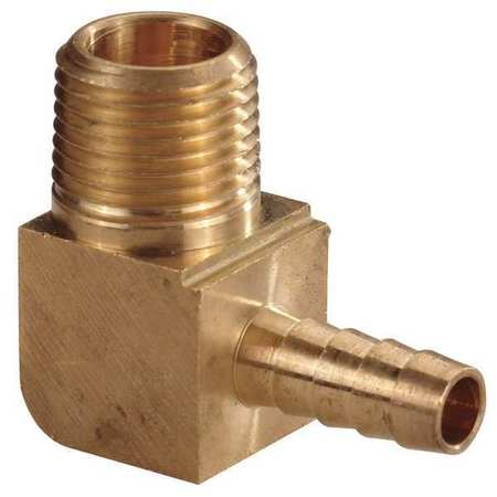 Hose Barb, 3/4 In Barb, 3/4 In MNPT, Brass
