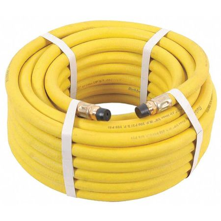 "3/8"" ID x 100 ft Nitrile Air Hose 300 PSI YL"
