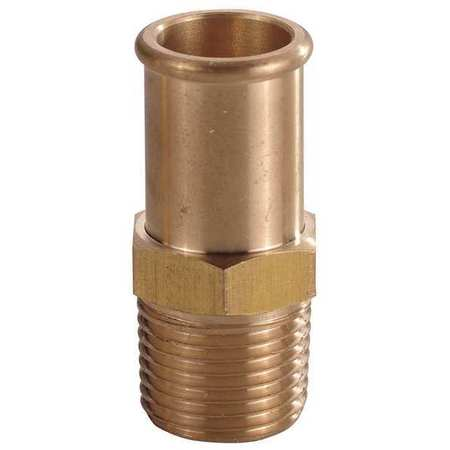 Hose Barb, 1/2 In Barb, 1/2 In MNPT, Brass