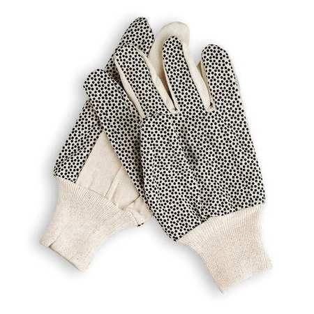 Canvas Gloves with Plastic Dots