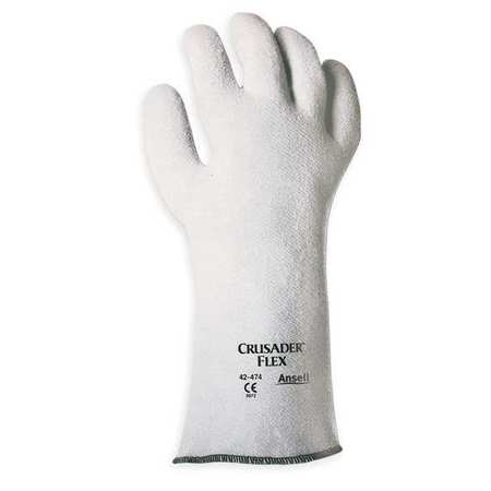 Heat Resistant Gloves, Gray, 9, Nitrile, PR
