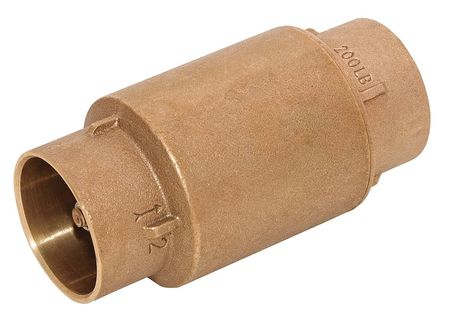 Spring Check Valve, Bronze, 1-1/2 In, Soldr