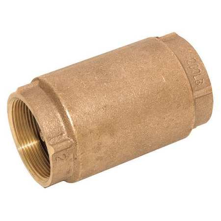 Spring Check Valve, Bronze, 1-1/4 In., NPT