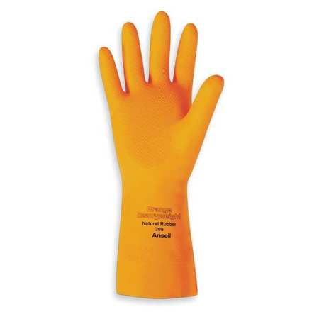 Natural Latex and Natural Latex Blend Gloves- Orange Heavyweight