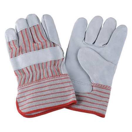 Leather Gloves, Red Striped, L, PR