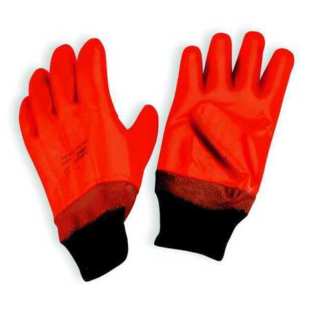 Coated Gloves, L, High Visibility Orange, PR