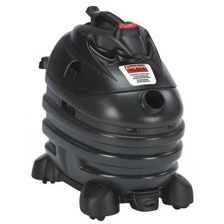 Wet/Dry Vacuum, Air Flow 140 cfm, 6-1/2 HP