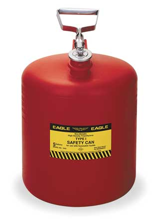 Type I Safety Can, 5 gal., Red, 17In H