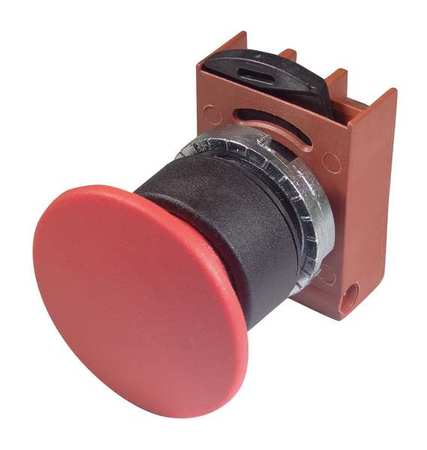 Non-Illum Push Button Operator, 22mm, Red