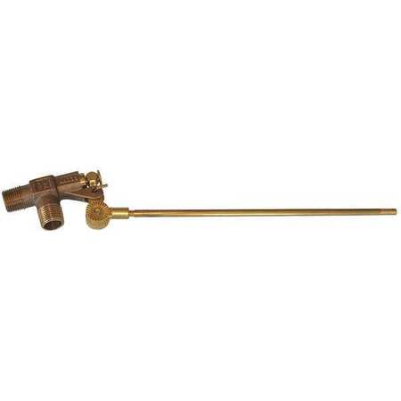 Float Valve, 3/8 In, Bronze, Pipe Mount