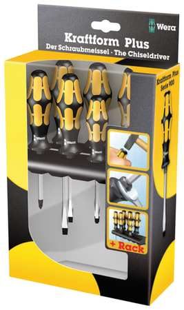 Demo Screwdriver Set, Slot/Phillips, 6 Pc