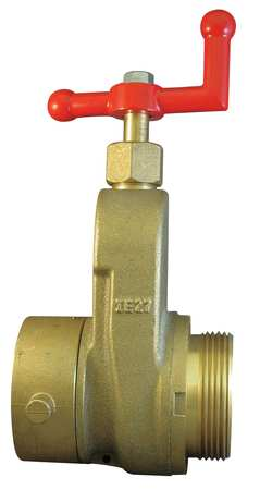 Hose Gate Valve, 2.5in MxF NST, Brass