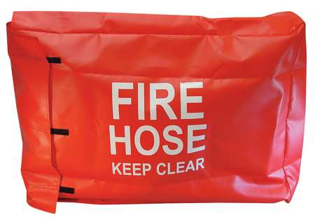 Fire Hose Cover, 32 In.L, 6 In.W, Red