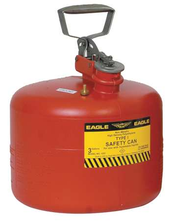 Type I Safety Can, 3 gal., Red, 13In H