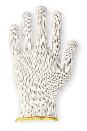 Cut Resistant Glove, White, Reversible, M