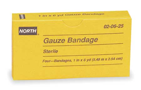 Gauze Wrap,  White,  Unitized,  PK4
