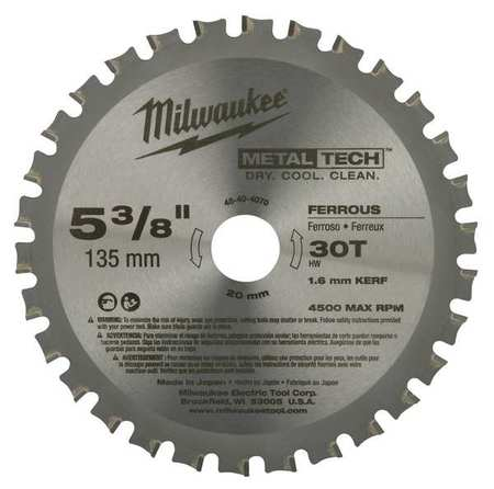 Circular Saw Blade, 5-3/8 in., 30 Teeth