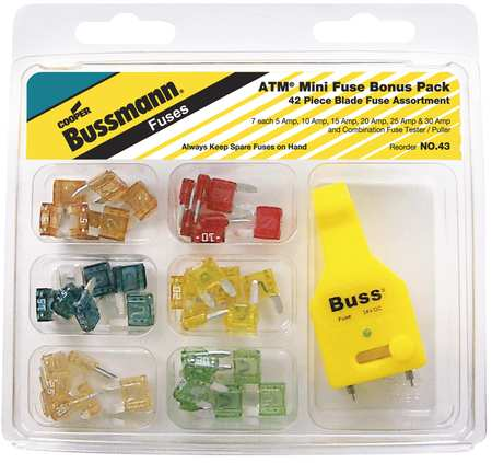 Blade Fuse Kit, 42, ATM, Automotive Fuse K