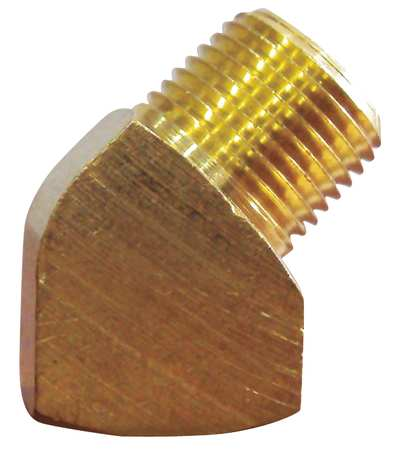 "1/8"" MNPT x FNPT Brass 45 Degree Street Elbow 10PK"