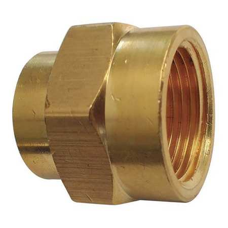 "3/4"" x 1/2"" FNPT Brass Reducing Coupling"