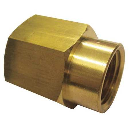 "3/8"" x 1/4"" FNPT Brass Reducing Coupling 10PK"