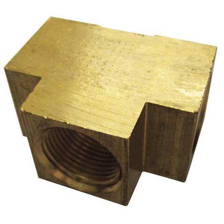 "1/2"" FNPT Brass Extruded Tee 10PK"