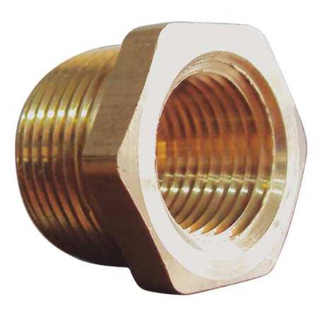"1/4"" MNPT x 1/8"" FNPT Brass Reducing Bushing 10PK"