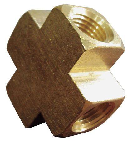 """3/4"""" FNPT Brass Cross"""