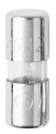 2A Fast Acting Cylindrical Glass Fuse 125VAC 5PK