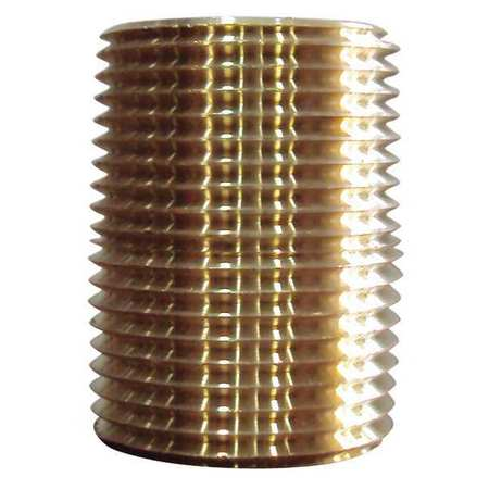 "3/4"" x 1-3/8"" MNPT Threaded Brass Close Pipe Nipple 5PK"